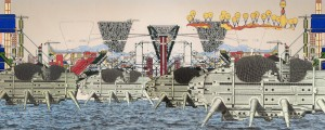 Walking city. Archigram,1964