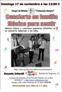 concierto para familias