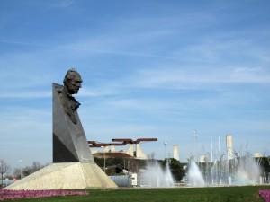 Monument to Juan de Borbon, father of Juan Carlos I King of Spain, Campo de las Naciones, Madrid.