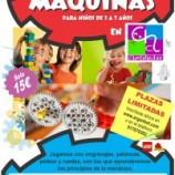 Talleres para niños y hermanos de distinta edad en Madrid Maquinas y robots.