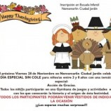 Campamento de celebración el 28 de noviembre, días sin cole