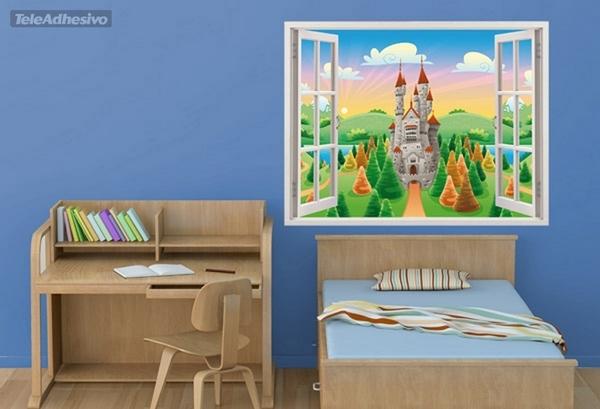 Regalo vinilos adhesivos para decorar la habitaci n for Vinilos 3d infantiles