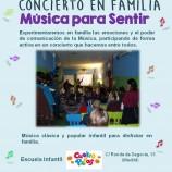 """Domingo 18 de enero a las 12h Concierto en familia """"Música para Sentir"""""""