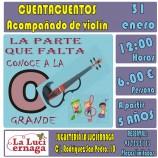 Cuenta cuentos para niños con violín en Madrid