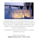 Taller con hielo para el día 6 de junio