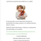 Taller de violín gratis en Madrid