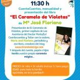 """CuentaCuentos, manualidad y presentación del libro """"El Caramelo de Violetas"""" de Mª José Floriano."""