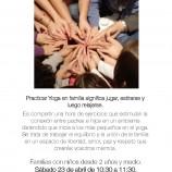 Yoga con niños en Familia Madrid