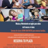 Clases Demo gratuitas de Kindermusik for ALL del 1 al 7 de abril